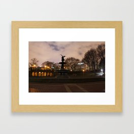 Bethesda Fountain Framed Art Print