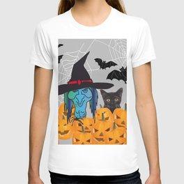 Witch bats pumpkin Halloween T-shirt
