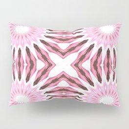 Pinwheel Flowers Pink Watercolor Pillow Sham