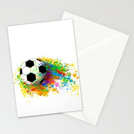 Football soccer sports colorful graphic design Stationery Cards