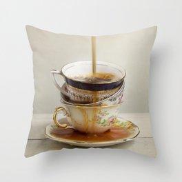 Tea Spill Throw Pillow