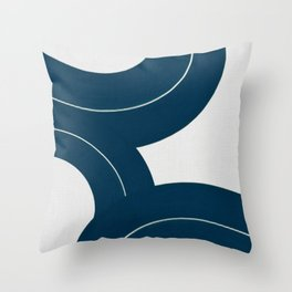 Waves on White Sand Throw Pillow