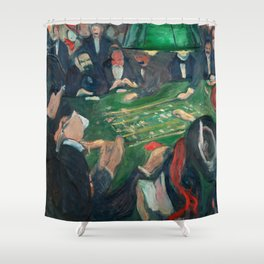 At the Roulette Table in Monte Carlo by Edvard Munch Shower Curtain