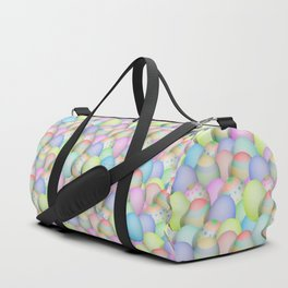 Pastel Colored Easter Eggs Duffle Bag
