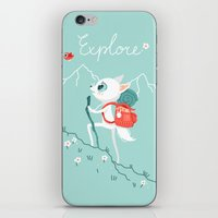 explore iPhone & iPod Skins featuring Explore by Freeminds