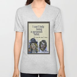 I can't help being a gorgeous fiend - Psych Quotes Unisex V-Neck