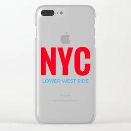 NYC Lower West Side Clear iPhone Case
