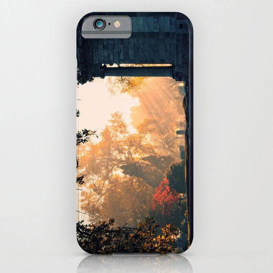 Fall morning at Green Lawn iPhone & iPod Case