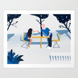 Hornbake Plaza Art Print