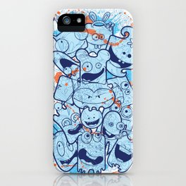 Decorative products with cute monsters iPhone Case
