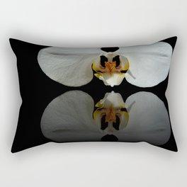White Reflection Rectangular Pillow
