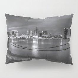 Norfolk Skyline II in Black and White Pillow Sham