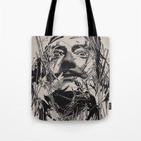 salvador dali Tote Bags featuring Dali by nicebleed