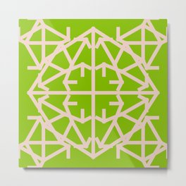 Diamond Bug Pale Dogwood - Greenery Metal Print