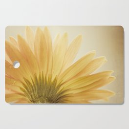 Gold Yellow Flower Photography, Golden Daisy Floral Photo, Nature Botanical Macro Picture Cutting Board