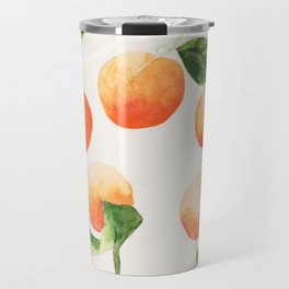 Satsumas Watercolor Painting Travel Mug