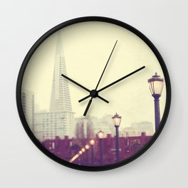 When we were together. San Francisco Transamerica Pyramid building, Pier 7 photograph Wall Clock