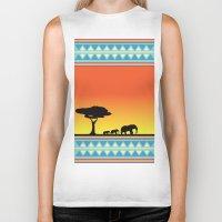 safari Biker Tanks featuring Safari by gdChiarts