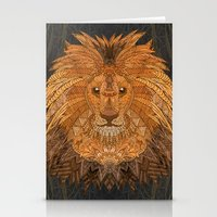 lion king Stationery Cards featuring King Lion by ArtLovePassion