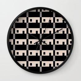 Row House Pattern Wall Clock