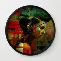 british Wall Clocks featuring Under a British rain by Ganech joe