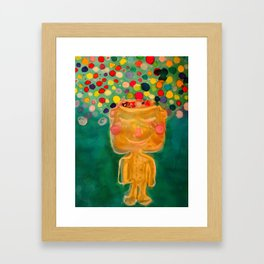 A dime for my thoughts, inspired by Noriko Tasaki Framed Art Print