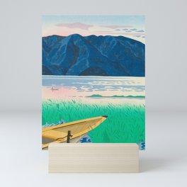 Tokuriki Tomikichiro Rice Field Lake Japan Japanese Woodblock Print Mini Art Print