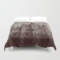 milan Duvet Covers featuring Milan Duomo, Milan by Albert Tjandra