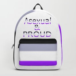 Asexual and Proud (white bg) Backpack