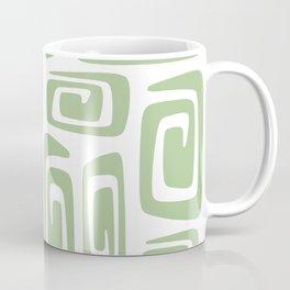 Mid Century Modern Cosmic Abstract 613 Sage Green Coffee Mug
