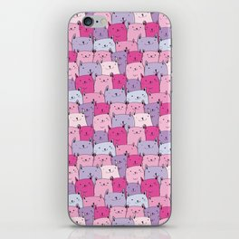 Cats pattern in Pastels , cute kitty cats in pink and purple iPhone Skin