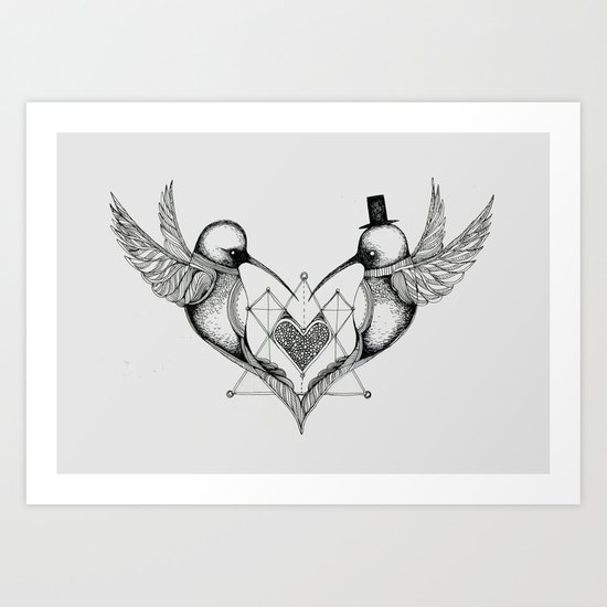 'Humming Birds' Art Print