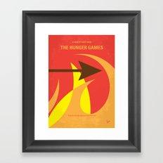 No175 My Games Hunger minimal movie poster 1 Framed Art Print