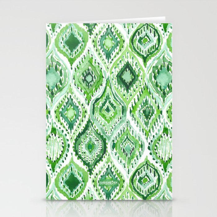 FROM WITHIN Green Moroccan Ogee Stationery Cards