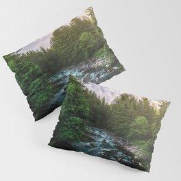 PNW River Run II - Pacific Northwest Nature Photography Pillow Sham