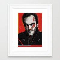 quentin tarantino Framed Art Prints featuring Quentin Tarantino by Zaneta Antosik