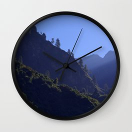 Pines in the Morning Light near Dharapani Wall Clock