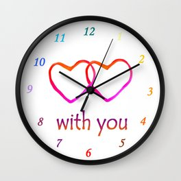 With You Wall Clock