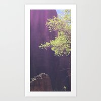 Purple in Zion Art Print