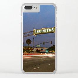 Encinitas Sign Clear iPhone Case