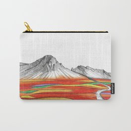 Mountain Landscape Contemporary Art, Mountain drawing, Modern Art, nature , Abstract Art, Mountains Carry-All Pouch