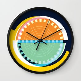Semi Circle Circles Wall Clock