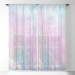 Iridescent Marble 2 Sheer Curtain