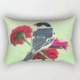 Whydah loving Zinnia flowers Rectangular Pillow