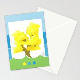 Ocean`s Golden Tree Stationery Cards