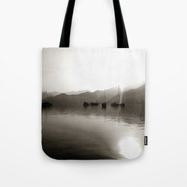 Gulets In Greyscale Tote Bag