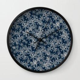 Deep Blue Snow Wall Clock