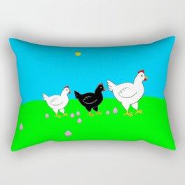 Hens and eggs Rectangular Pillow