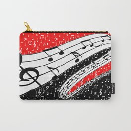 Red and black music theme Carry-All Pouch