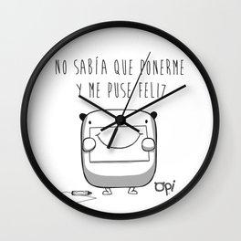 NO SABIA Wall Clock